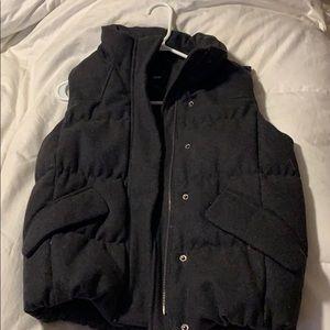 Charcoal Grey Gap wool blend down vest